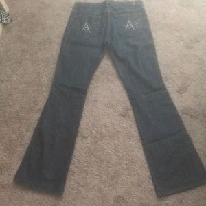 7 for all man kind dark wash flare jeans!